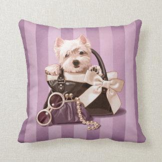 Westie puppy in Handbag Pillow