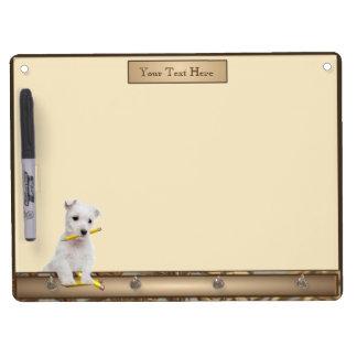 Westie Puppy Keychain Holder Dry-Erase Board