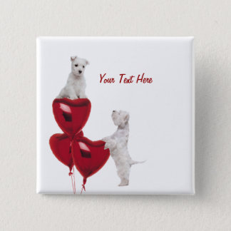 Westie Puppy Love Button
