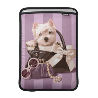 Westie puppy MacBook sleeves