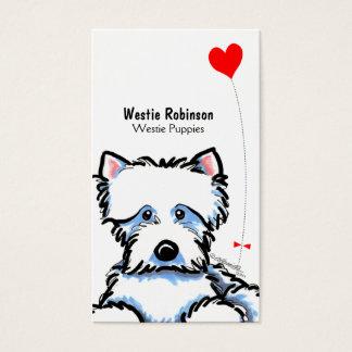 Westie Puppy Pet Business Cards