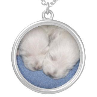 Westie Pups Sleeping Necklace