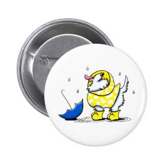 Westie Rainy Day Button