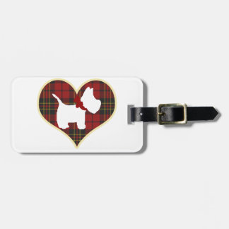 Westie Right Luggage Tag