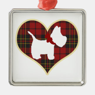 Westie Right Metal Ornament