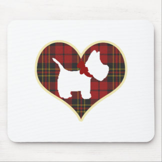 Westie Right Mouse Pad