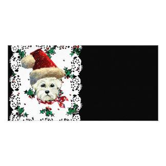 Westie Santa Photo Card Template