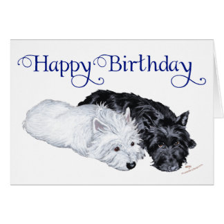 Westie & Scottie at Ease Card