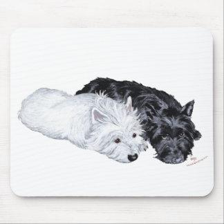 Westie & Scottie at Ease Mousepad