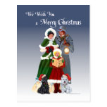 Westie & Scottie Christmas Carols Post Card