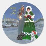 Westie & Scottie Christmas Carols Stickers