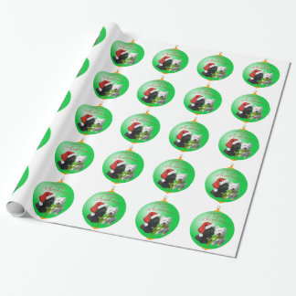 Westie Scottie Christmas Ornament Gift Wrapping Paper