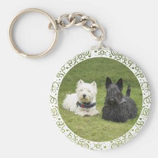 Westie & Scottie Green Grass Keychain