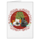 Westie & Scottie Merry Christmas Greeting Card