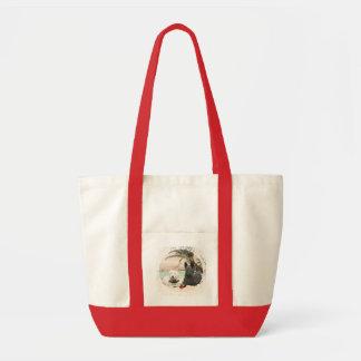 Westie & Scottie on Palmy Beach Tote Bag