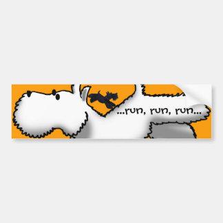Westie/Scottie Run Bumper Stickers