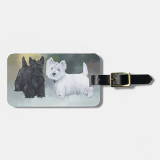 Westie Scottie Wintertime Bag Tag