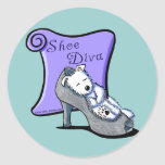 Westie SHOE DIVA Stickers