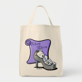 Westie SHOE DIVA Tote Bag