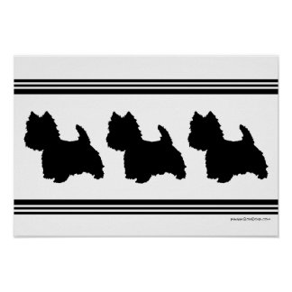 Westie Silhouette Poster