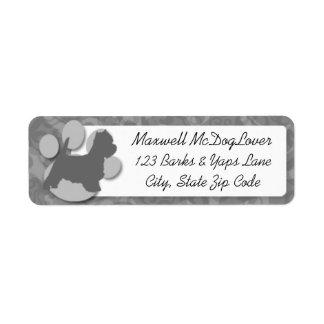 Westie Silhouette Return Address Label