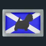 """westie silo on Scotland flag.png Belt Buckle<br><div class=""""desc"""">whwt</div>"""