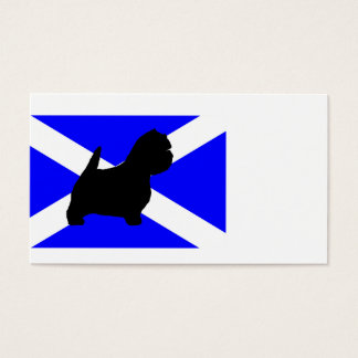 westie silo on Scotland flag.png Business Card