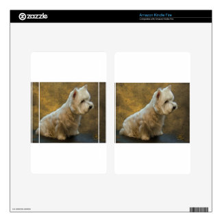 Westie sitting decals for kindle fire