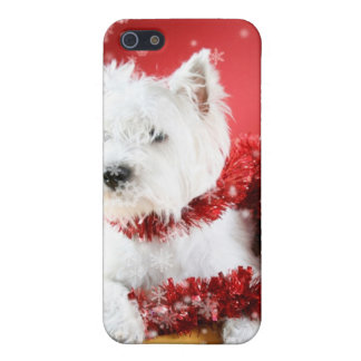 Westie Snowflake Holiday Design Case For iPhone SE/5/5s