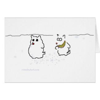 Westie snowman card