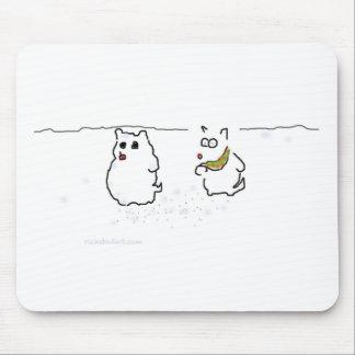Westie snowman mousepads