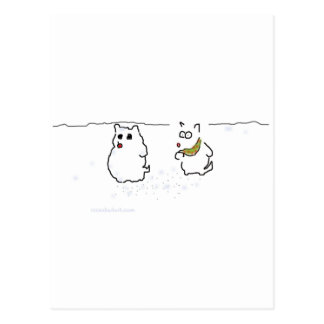 Westie snowman post card