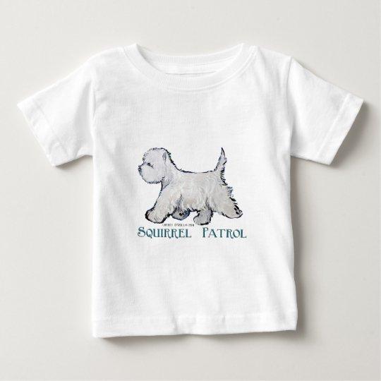 Westie Squirrel Patrol Baby T-Shirt
