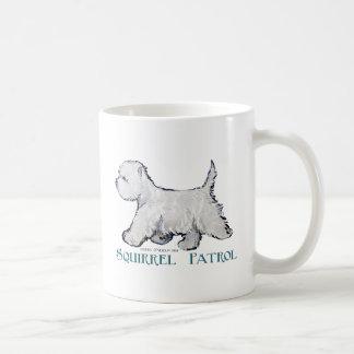 Westie Squirrel Patrol Coffee Mug