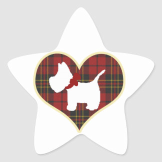 Westie Star Sticker