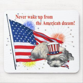 Westie - sueño americano alfombrillas de ratones