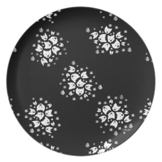 Westie Terrier Bouquets Plate