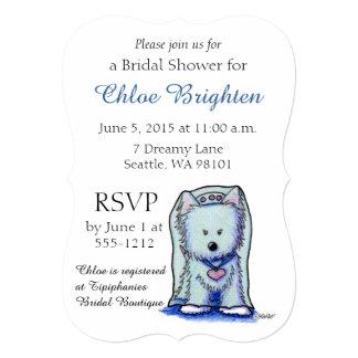 "Westie Terrier Bridal Shower Invitations 5"" X 7"" Invitation Card"
