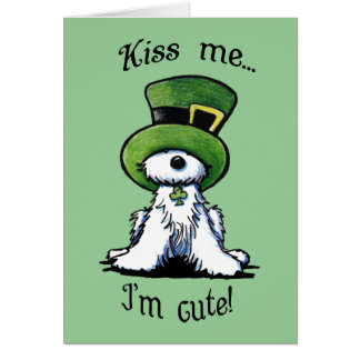 Westie Terrier Dog KISS ME Card Note Card