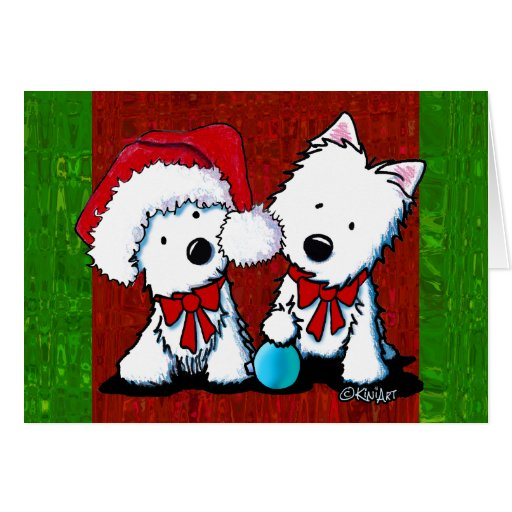 Westie Christmas Card