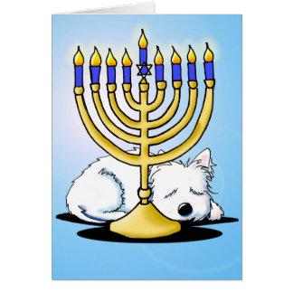 Westie Terrier Hanukkah Card