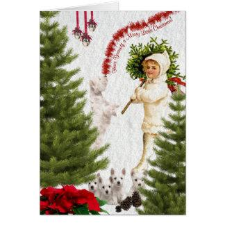 Westie tiene usted mismo Felices pequeños Navidad Tarjeton