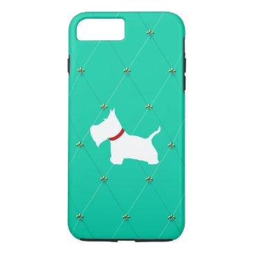 McTiffany Tiffany Aqua Westie Tiffany Blue Diamonds iPhone 8 Plus/7 Plus Case