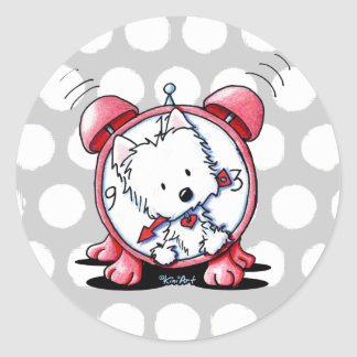 Westie Time Classic Round Sticker