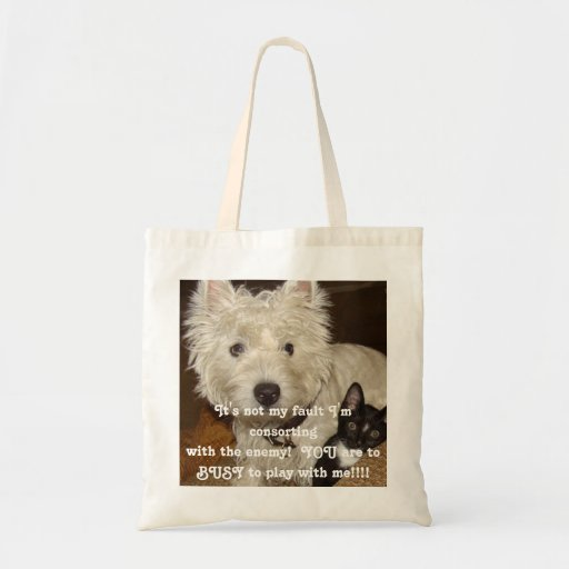 Westie Tote Canvas Bag