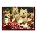 Westie Toyland Christmas Card