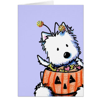 Westie Trick For Treat Card