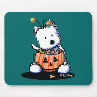 Westie Trick For Treat Mouse Pads