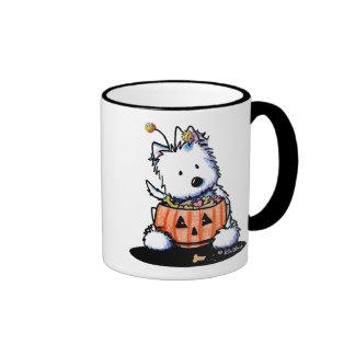 Westie Trick For Treat Ringer Coffee Mug