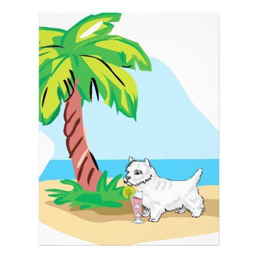 westie tropical flyer personalizado